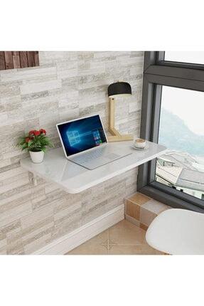 Özlem Mobilya 75x45 Cm Mdf Oval Kenarlı Kırma Katlanır Duvara Monte Çalışma Masası 2