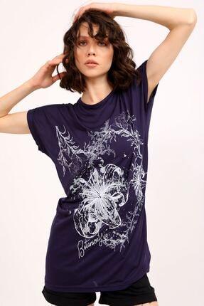 metropol tekstil Krt-066 Desenli Tshirt Lacivert 0