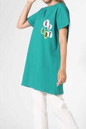 ALLDAY Zümrüt Baskılı Kısa Kol T-shirt 4