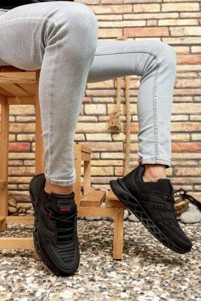 Riccon Siyah Kırmızı Erkek Sneaker 00122021 2