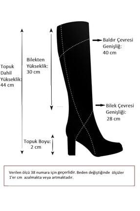 Fox Shoes Vizon Baskı Kadın Çizme E726203409 3