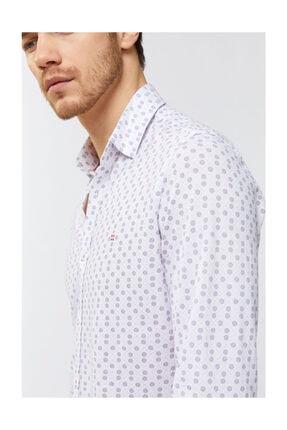 Avva Erkek Kırmızı Baskılı Klasik Yaka Slim Fit Gömlek A91y2138 2