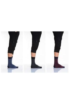 Idilfashion 3'lü Çember Desenli Erkek Soket Çorap-1 LTEASO0503502