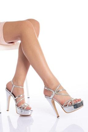 Çnr&Dvs Gümüş Ayna S Taş Kadın Abiye Ayakkabı 930715cnr 0