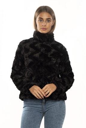 Vero Moda Kadın Siyah Dik Yaka Kısa Kürk 10194645 0