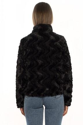 Vero Moda Kadın Siyah Dik Yaka Kısa Kürk 10194645 3
