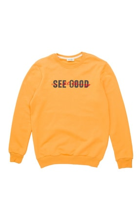 BÖRD&CO. Börd&co Hardal See Good Baskılı Unisex Sweatshirt 0