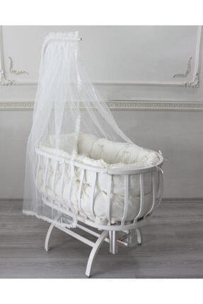 Krem Sepet Beşik Uyku Seti Anne Yanı %100 Organik Pamuk BBYSPTKREM