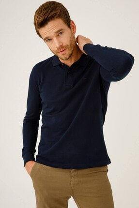 İgs Erkek Lacivert Standart Polo Yaka Sweatshirt 0