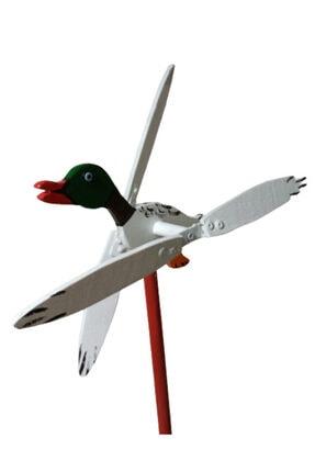 Rüzgaristan Yeşil Başlı Ördek Ahşap Rüzgar Gülü 1