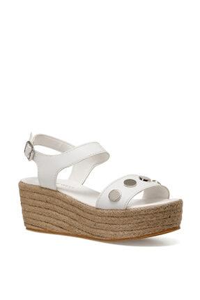 Nine West VALADON Beyaz Kadın Dolgu Topuklu Sandalet 100526220 1