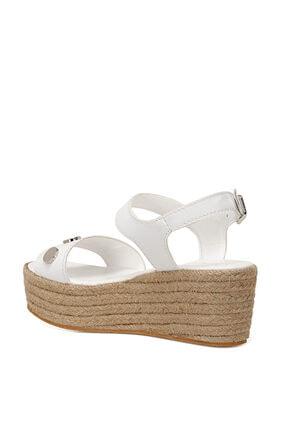 Nine West VALADON Beyaz Kadın Dolgu Topuklu Sandalet 100526220 2
