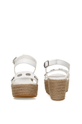 Nine West VALADON Beyaz Kadın Dolgu Topuklu Sandalet 100526220 4