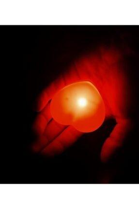 DDTREND 2 Adet Dekoratif Led Işıklı Pilli Kalp Şeklinde Lamba Parti Organizasyon Süs Dekor 7cm Piller Dahil 0