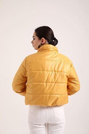 Kokosh Fashion Şişme Kısa Mont Sarı 4