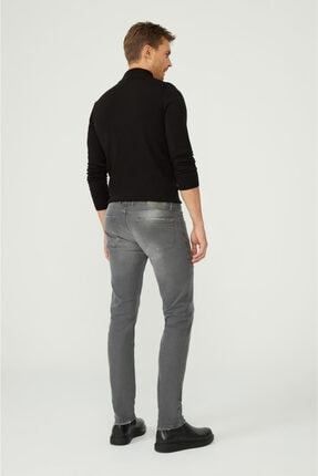 Avva Erkek Gri Slim Fit Jean Pantolon A02y3599 3