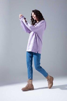 Mizalle Youth Neon Karyoka Sweatshirt (Lila) 1