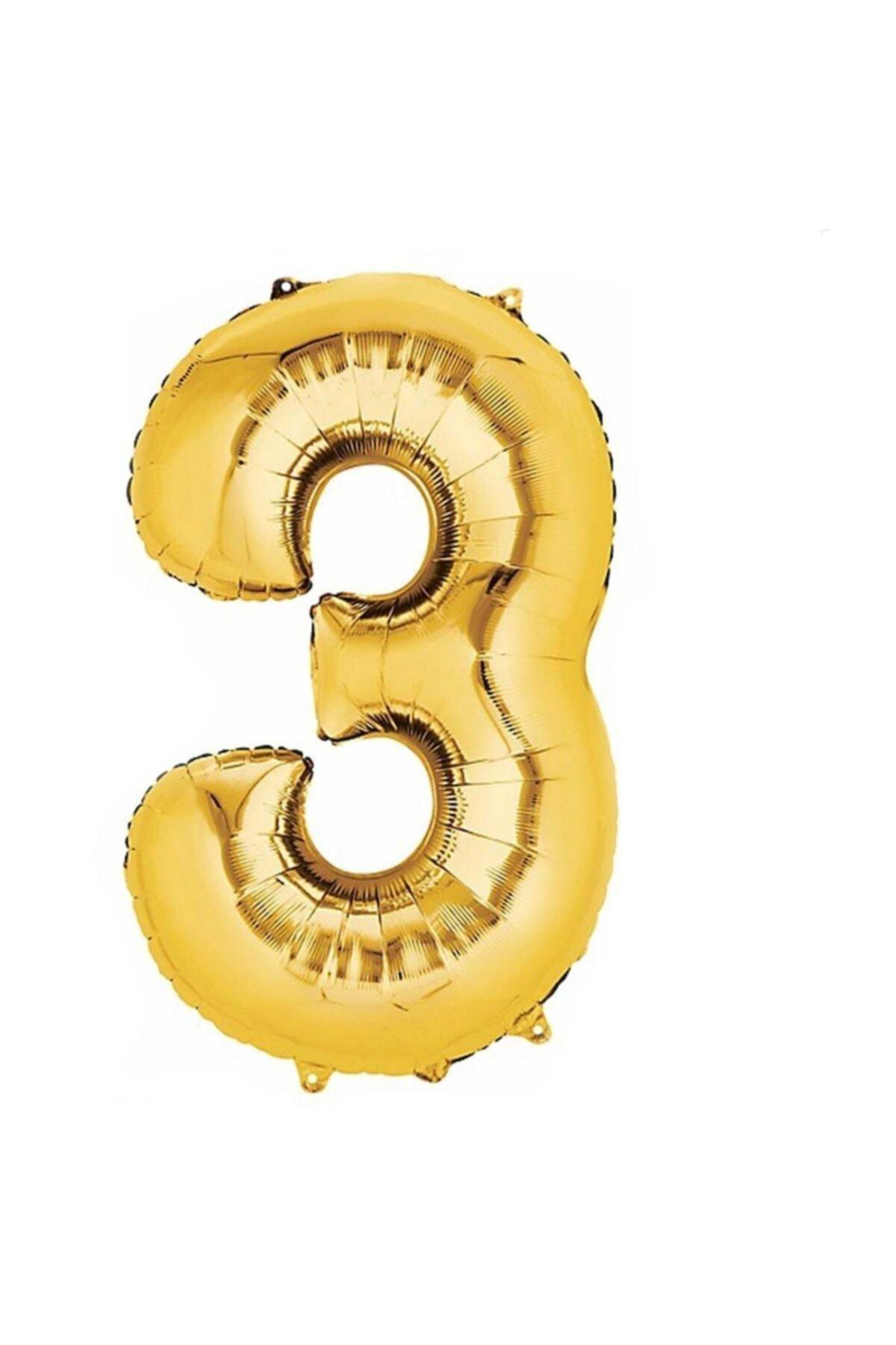 3 Altın Balon 100 cm