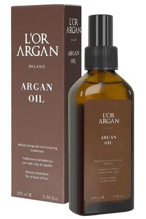 L'Or Argan Milano Aşırı Yıpranmış Saçlar Için Nemlendirici Onarıcı Argan Bakım Yağı 100ml 0