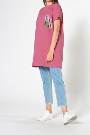 ALLDAY Gül Kurusu Baskılı Kısa Kol T-shirt 4