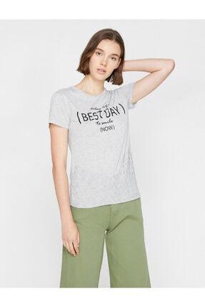 Koton Yazili Baskili T-shirt 1
