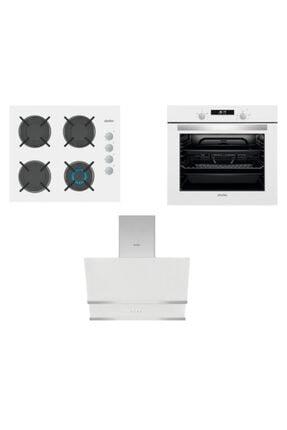 Simfer Kardelen Beyaz Dijital Ankastre Cam Set (3507 - 8668 - 7340) 0