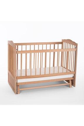 Heyner Ahşap Beşik Anne Yanı Beşik Sallanır Beşik Organik 60x120 + Krem Prenses ( Kız ) Uyku Seti + Yatak 4