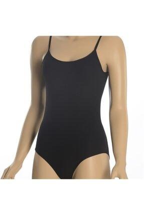 Altınay Kadın Siyah Ip Askılı Çıtçıtlı Body 0