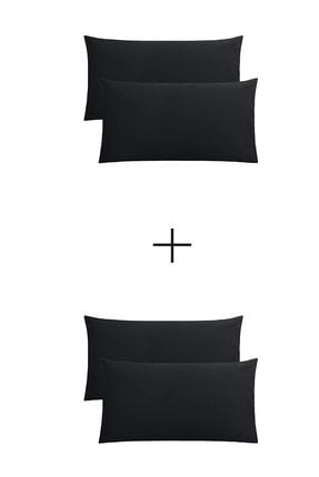 StellaFlavo Stella Flavo 4'lü Yastık Kılıfı 50x70+20cm Kapaklı Siyah-siyah 0
