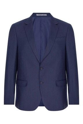 İgs Erkek Lacivert Barı / Geniş Kalıp Mono Yaka Takım Elbise 1