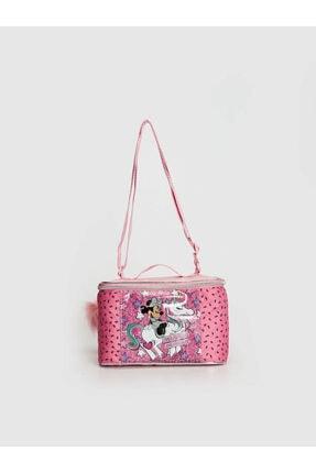 LC Waikiki Minnie Mouse Kız Çocuk Pembe Baskılı Lt4 Beslenme Çantası 0