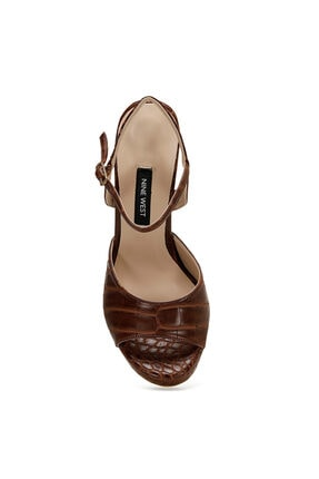 Nine West CENDO Kahverengi Kadın Topuklu Sandalet 100526405 1