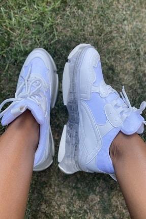 İnan Ayakkabı Bayan Şeffaf Taban Spor Ayakkabı 1