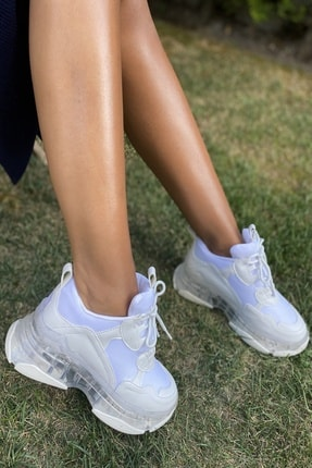 İnan Ayakkabı Bayan Şeffaf Taban Spor Ayakkabı 3