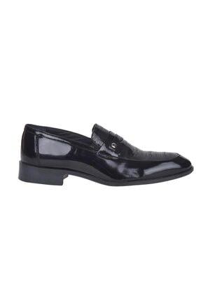 Pierre Cardin 00pc16 Siyah %100 Deri Erkek Rugan Klasik Ayakkabı 1
