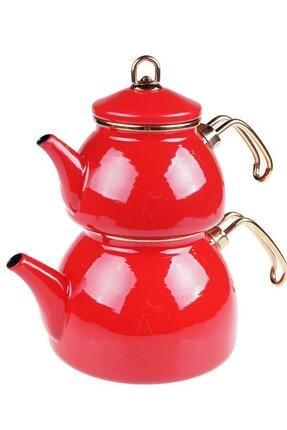 Taşev Şehzade - Çaydanlık Takımı Kırmızı 0