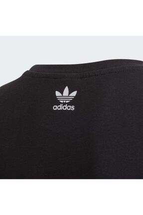 adidas Unisex  Çocuk Siyah Fm5641 Bıg Trefoıl Tee  Spor T-Shirt 3