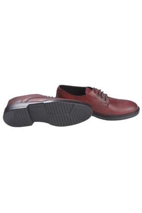 Rekirs Erkek Günlük Klasik Hakiki Deri Bordo Bağcıklı Ayakkabı 2