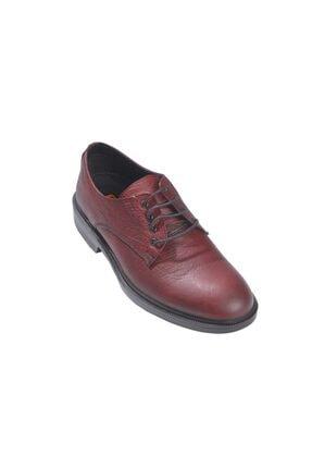 Rekirs Erkek Günlük Klasik Hakiki Deri Bordo Bağcıklı Ayakkabı 3