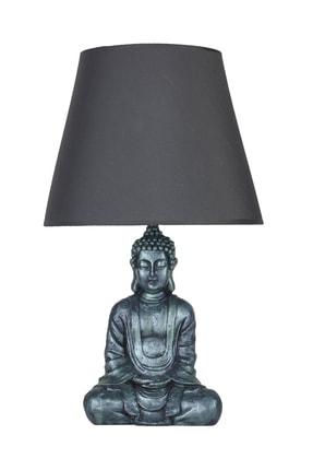 Modern Dizayn Buda Abajur Yeşil-gri qdecabjbuda023