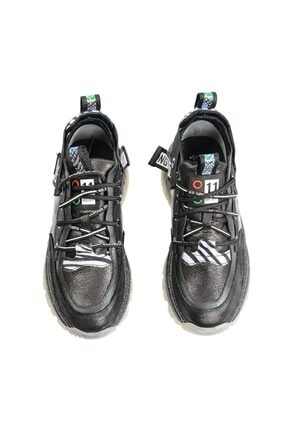 Flower Siyah Şeffaf Tabanlı Sneaker 3
