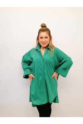 Serpirella Butik Yeşil Tunik Gömlek 0