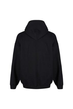 FAVORİZADE Ünisex Siyah Marshmello Baskılı Kapüşonlu Sweatshirt 1