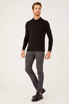 İgs Erkek Siyah Standart Polo Yaka Sweatshirt 4