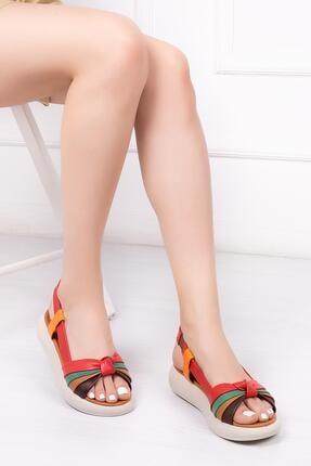 Deripabuc Hakiki Deri Multi-2 Kadın Deri Sandalet Dp-1841 0