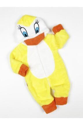 Bebesev Baby Bebesev Peluşlu Welsoft Ördek Tulum - Sarı 1
