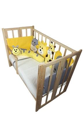 Rimini Baby Smartcrib Doğal Katlanır Beşik+ilk Arkadaşlarım Eğitici Uyku Seti Sarı-gri 1