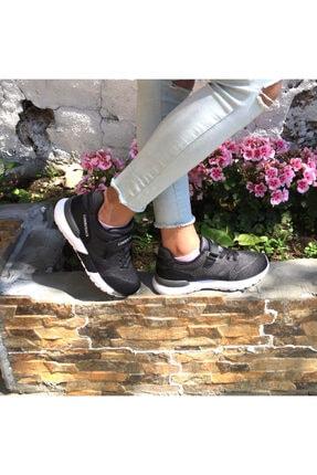 100486315 Vendor J.r K.-gri Hafif Taban Rahat Cırtlı Tekstil Çocuk Sneakers resmi