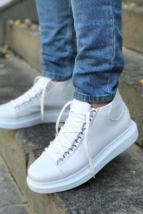 Trend Sultan Yüksek Taban Beyaz Erkek Ayakkabı 0