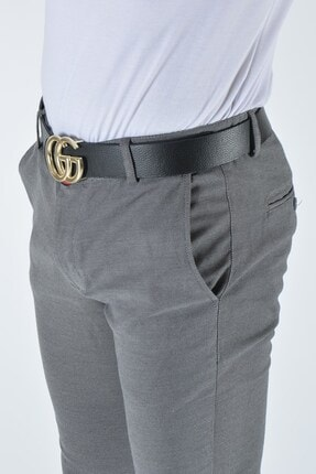 Terapi Men Erkek Slim Fit Keten Pantolon 20y-2200321 Gri 3